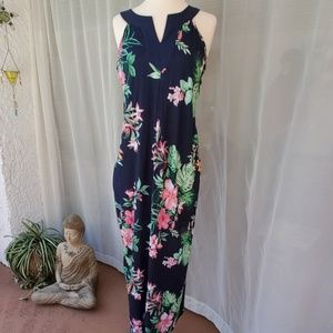 380374ec9e Tommy Bahama tropical print maxi dress sz M EUC
